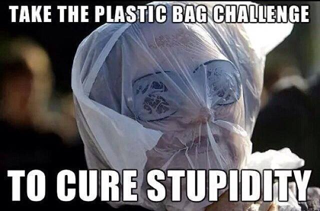 Plastic bag challange