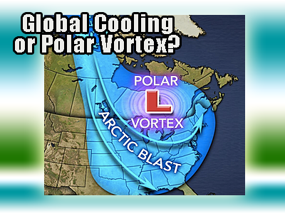 Global cooling or polar vortex