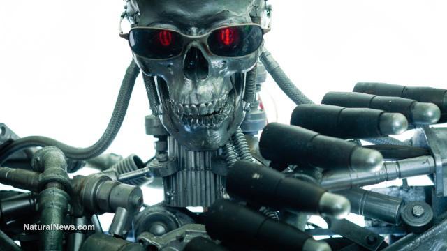 Skeleton-Cyborg-Robot