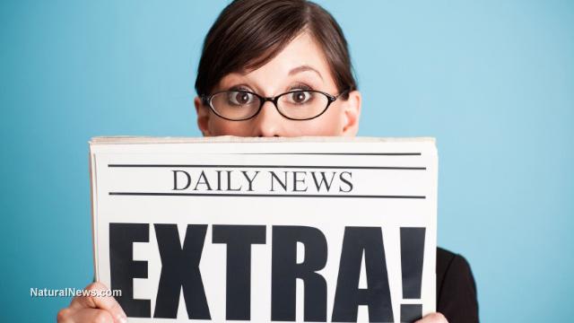 Woman-Newspaper-Extra-Headline