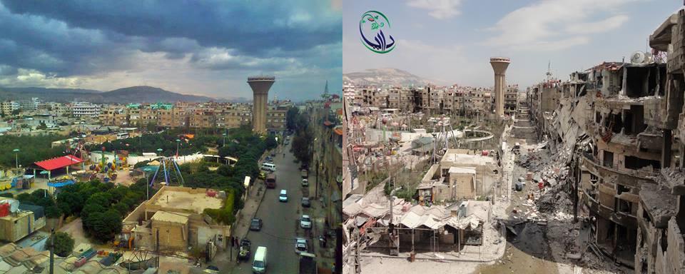 devastation syria